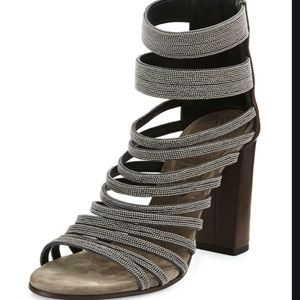 Brunello Cucinelli Monili Strappy Sandal 36